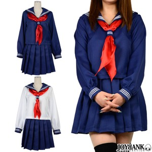 Long Sleeve Sailor Suit Women Scarf Cosplay Costume