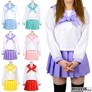 Long Sleeve Sailor Suit Cosplay Costume Student Women