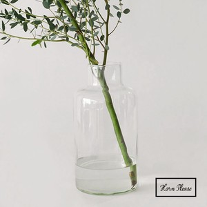 Glass Blow Line Flower Vase Free