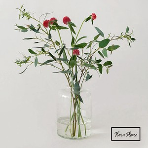 Glass Blow Line Flower Vase