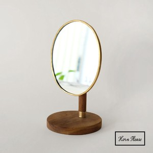 Brass Brass Stand Alone Mirror Oval