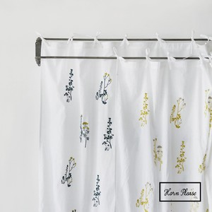 Curtain Botanical Embroidery