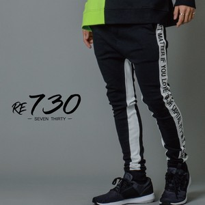 ponte fabric Line Pants Unisex Color Scheme