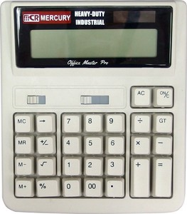 """Mercury"" Soalar powered Calculator Beige"