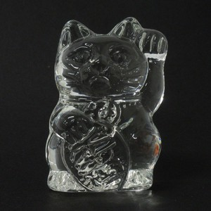 Good Luck Interior Accessory Glass Objects Glass Ornament Beckoning cat
