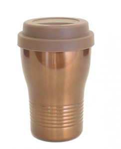 tone Silicone With Lid Tumbler Brown