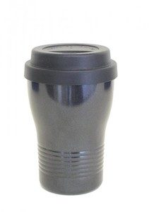 tone Silicone With Lid Tumbler Black