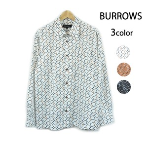 S/S Geometry Long Sleeve Shirt Repeating Pattern