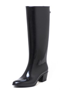 Middle Heel Long Rain Boots 50mm Heel