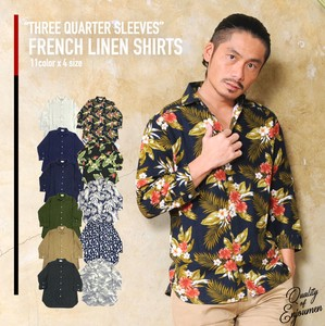 French Rayon Three-Quarter Length Shirt