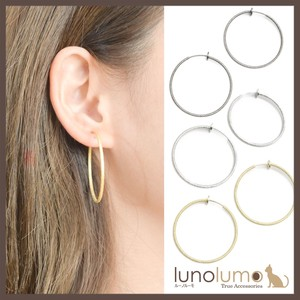 Hoop Earring Metal Ladies Gold Silver Pipe Earring Glitter