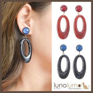 Earring Retro Ladies Color Long Larger Resin Parts