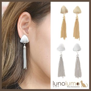 Earring Tassel Ladies Metal Chain Gold Silver
