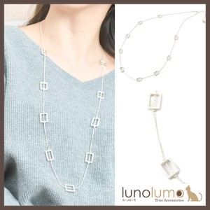 Necklace Metal Ladies Silver Casual White Metal Square Frame