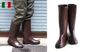 2018 A/W Italy Italy Rubber Boots Brown