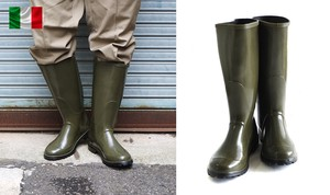 2018 A/W Italy Italy Rubber Boots Olive