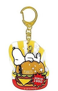Snoopy Acrylic Layer Key Ring Burger
