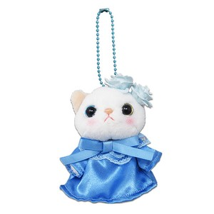 Cat Blue Rose Soft Toy Mascot