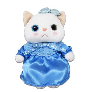 Cat Blue Rose Soft Toy Size M