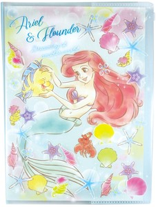 Disney Dream Notebook Attached Plastic Folder Ariel