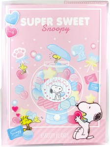 Snoopy Notebook Attached Plastic Folder