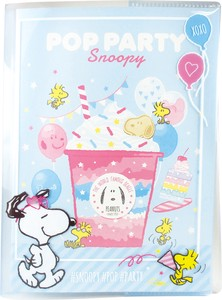 Snoopy Notebook Attached Plastic Folder Pop Party