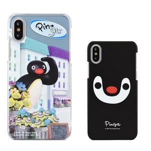 ピングー iPhone Xs/X対応ハードケース Pingu in the city PG-57B