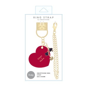 Ring Strap Alice Heart Red