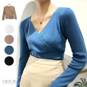 A/W Top V-neck Beauty Stretch Knitted