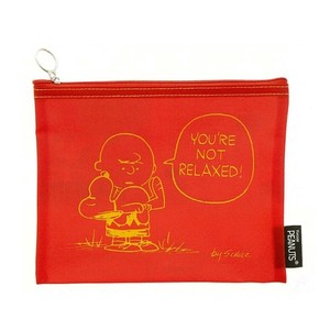 Flat Pencil Case Red