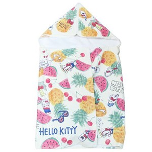 Hello Kitty Fastener With Hood Sports Towel Enjoy