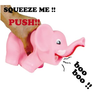 Squeeze Rubber Elephant Fan Party Supply Present