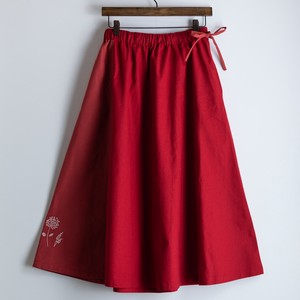 S/S Bi-Color Embroidery Skirt