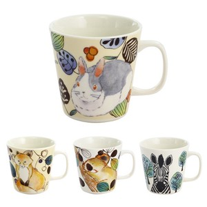 Porcelain 1Pc Mofumofu Land Mug Rabbit Fox Koala Zebra