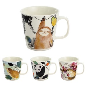 Porcelain 1Pc Mofumofu Land Mug Hedgehog Panda Bear Squirrel