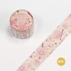Washi Tape Foil Stamping Story Cherry Blossoms
