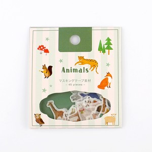 Flake SEAL Animals Washi Tape Material