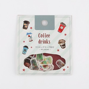 Flake SEAL Coffee Drink Washi Tape Material