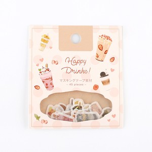 Flake SEAL Happy Drink Washi Tape Material