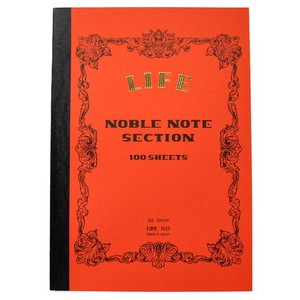 [LIFE]NOBLE NOTEBOOK SECTION A5 SIZE/100 SHEETS