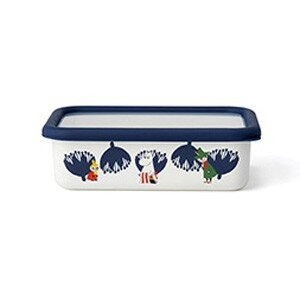 Storage Container Shallow Type Food Container Enamel The Moomins Fuji Enamel