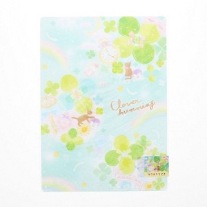 Stationery plastic sheet clover