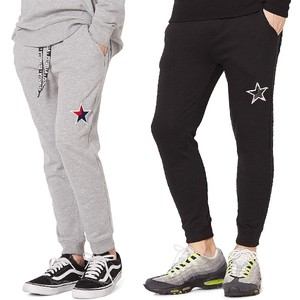 S/S Men's Star Patch Attached Fleece Sweat Pants