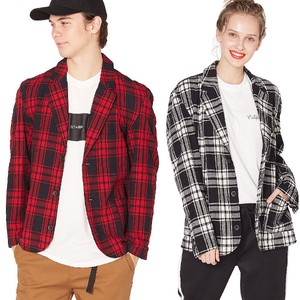 S/S Men's Checkered Tailored Jacket