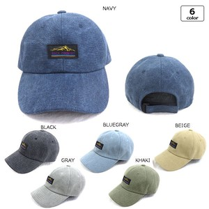 Front Name Water-Repellent Canvas Cap