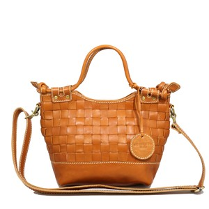 Leather Mesh Tote Bag