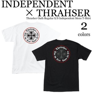 《即納》INDEPENDENT X THRAHSER《2018秋冬新作》■S/S TEE■Thrasher Oath Regular S/S Independent