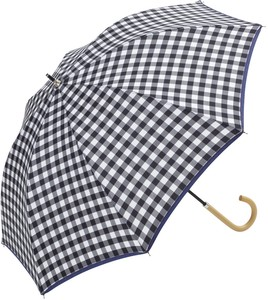 S/S All Weather Umbrella Stick Umbrella Gingham
