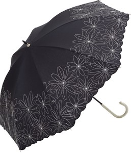S/S All Weather Umbrella Stick Umbrella Margaret Embroidery