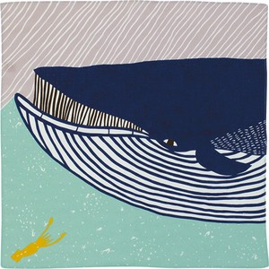 Wrapping Cloth End Whale Blue